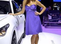 фото девушек в автосалоне