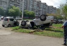 Жесткое ДТП столкнулись Toyota Vitz и Caldina