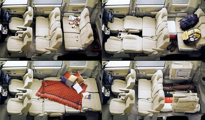 Варианты салона Mitsubishi Delica D:5