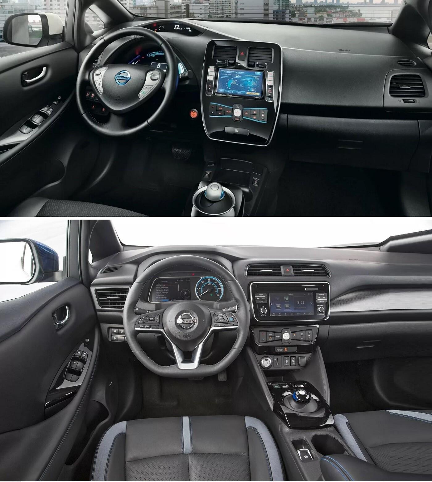 Nissan Leaf интерьер