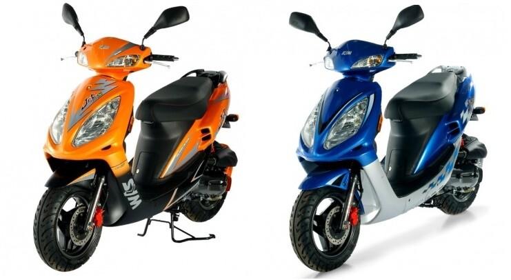 Скутеры серии EuroX китайская компания Sanyang