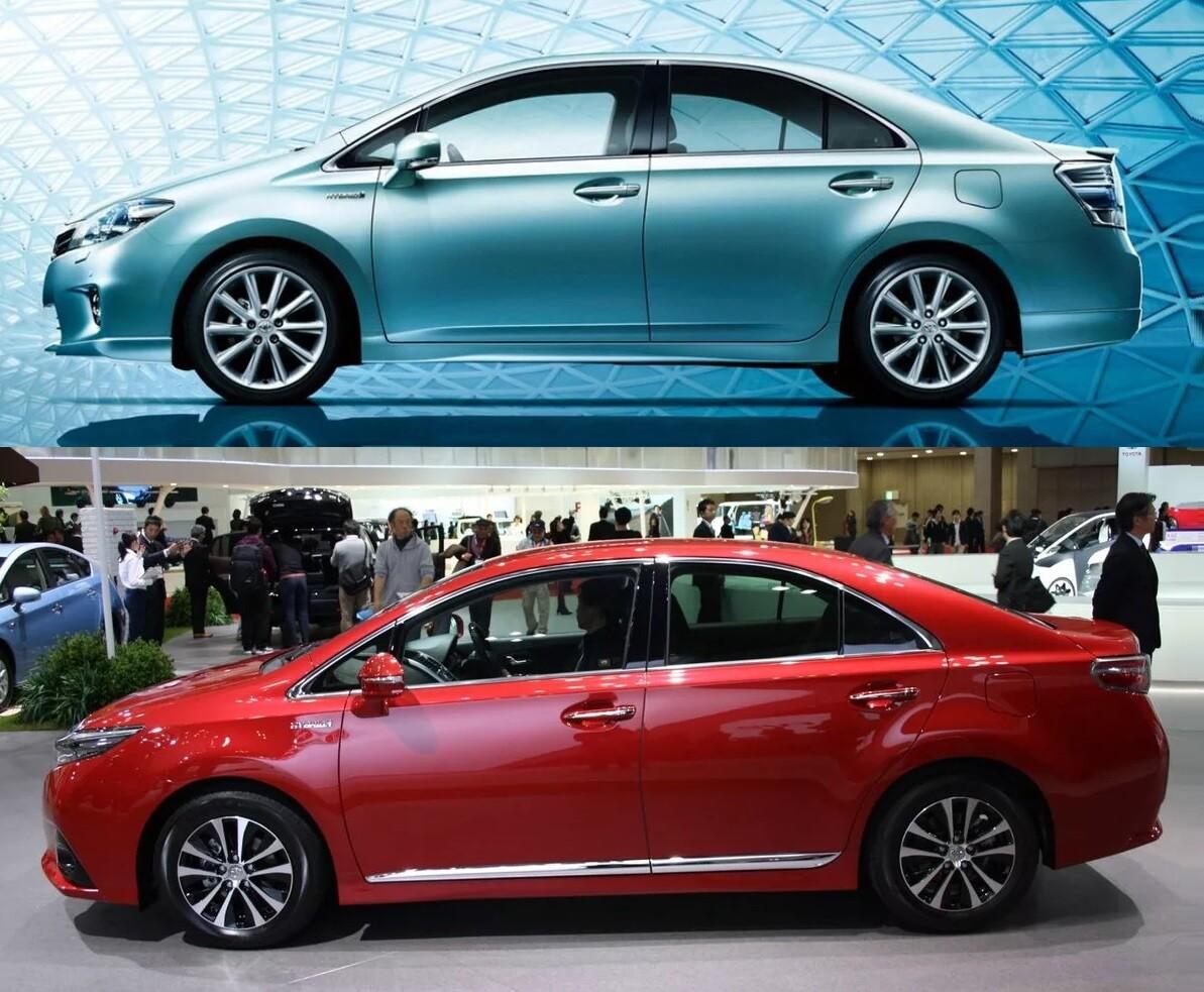 Toyota Sai вид кузова сбоку